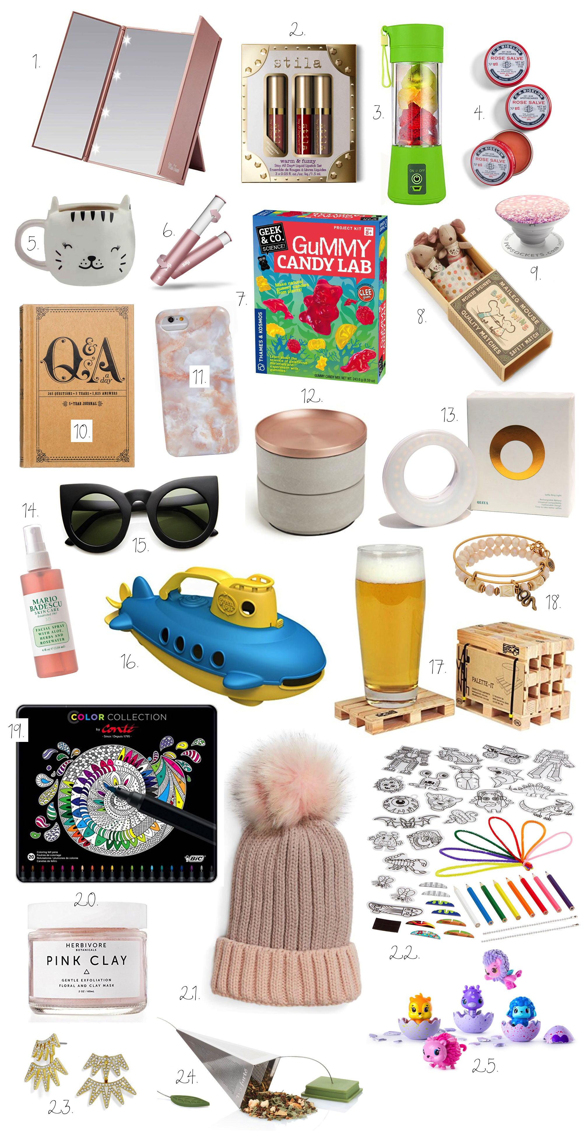 25 of the coolest and best stocking stuffers and gifts for eight nights of Chanukah - and they're all under $30 (with most under $20!) | glitterinc.com | @glitterinc - Gift Guide: 25 Stocking Stuffer Ideas + Ideas for Eight Nights of Chanukah (All Under $30) by North Carolina style blogger Glitter, Inc.