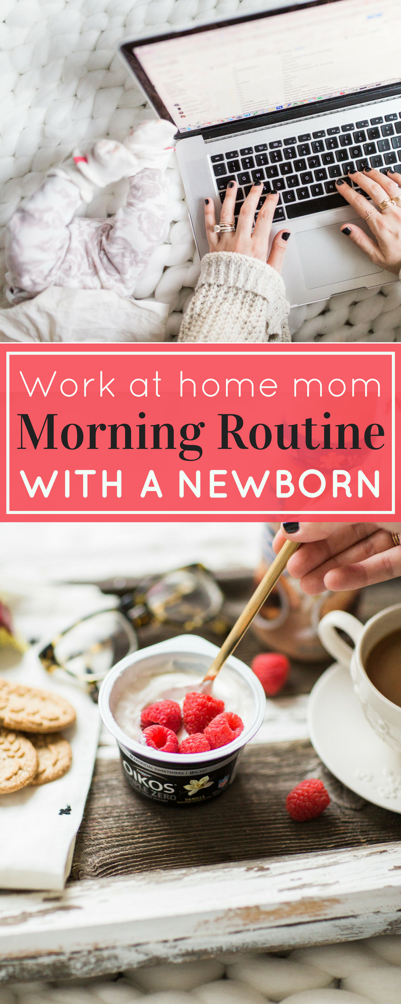 Now that we're adjusting to life with a newborn (and toddler), I'm slowly easing my way back into a work-from-home routine. Here's how I juggle my days with two kids under three. | glitterinc.com | @glitterinc