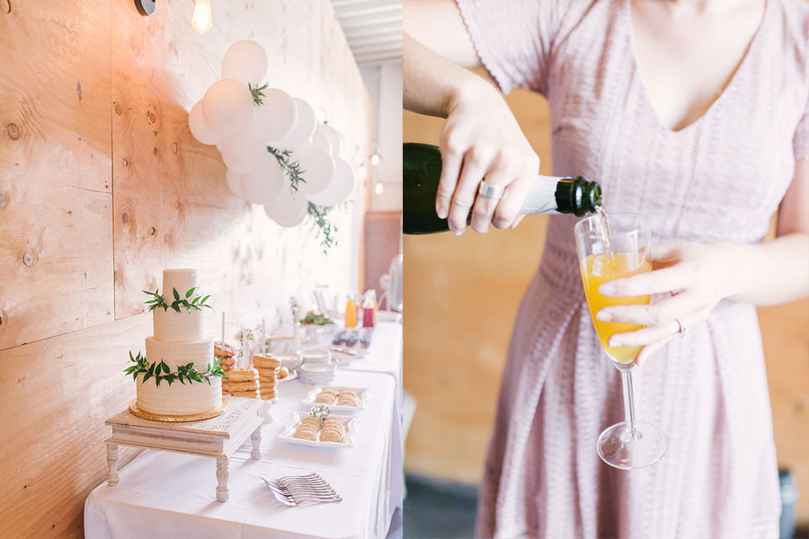 Lovely modern minimalist blush baby shower, set in the coolest industrial farmhouse barn. | glitterinc.com | Hovering Heart Photography | @glitterinc - Modern Minimalist Blush Baby Shower by popular North Carolina style blogger Glitter, Inc.
