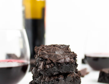 Fudgy Red Wine Brownies by popular North Carolina foodie blogger Glitter, Inc.