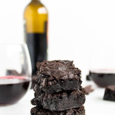 Fudgy Red Wine Brownies