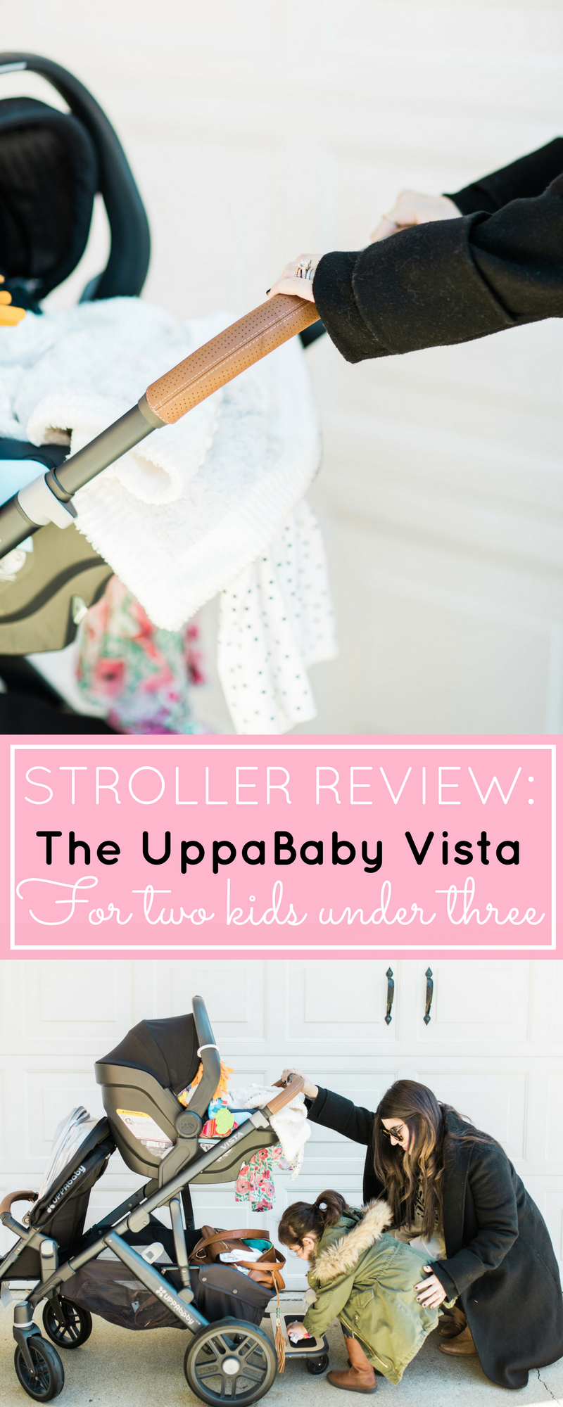 It's finally here! Our review of the UPPAbaby VISTA (and how we use the stroller for two kids under three); plus details about using the RumbleSeat, MESA Car Seat, and PiggyBack Ride-Along Board. Click through for the details. | glitterinc.com | @glitterinc - The Dream Stroller That Grows With Your Family: UPPAbaby VISTA by popular North Carolina mom blogger Glitter, Inc.