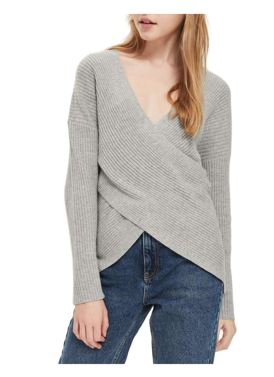 Topshop Wrap Front Sweater - Weekly Picks by North Carolina style blogger Glitter, Inc.