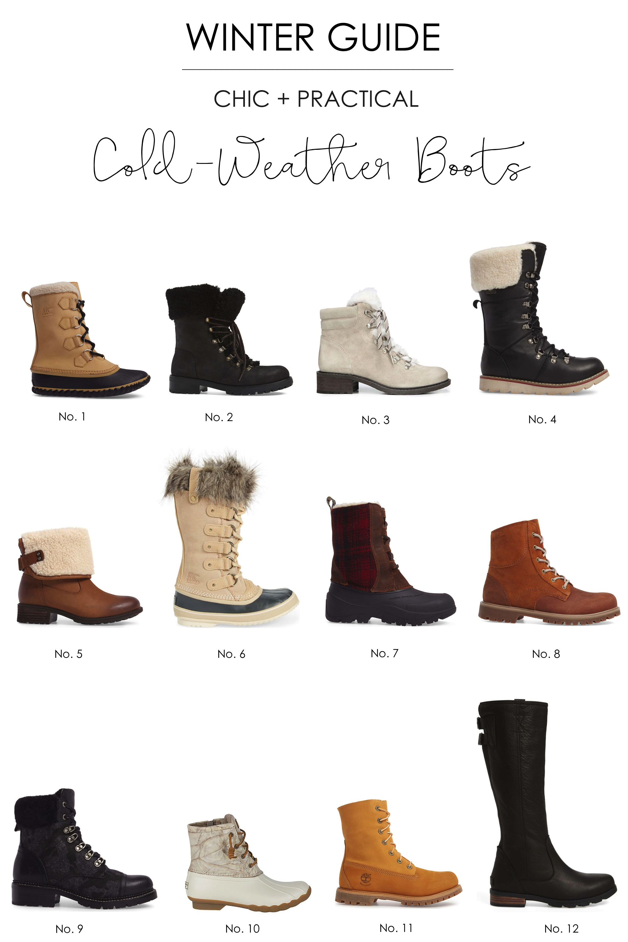You don't have to sacrifice style for warmth when it comes to winter boots. Here's a guide to the best boots that will keep your feet toasty and dry! | glitterinc.com | @glitterinc - A Guide to the Best Winter Cold Weather Boots by popular North Carolina style blogger Glitter, Inc.