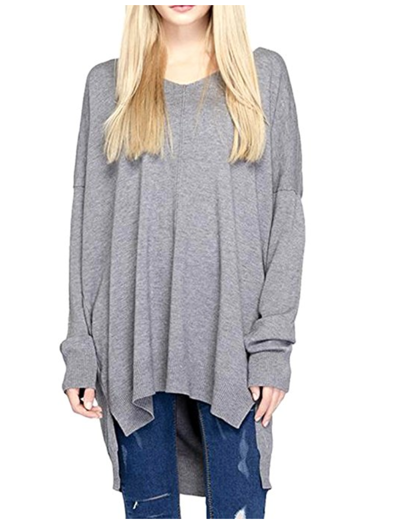 A great tunic is the perfect go-anywhere look, and all of these are under $30 and available on Amazon. Tunics and leggings = Mom Uniform 101. | glitterinc.com | @glitterinc // deep v-neck long sleeve hi-low pullover sweater - 18 Perfect Go-Anywhere Cute Tunics Under $30 on Amazon by popular North Carolina style blogger Glitter, Inc.