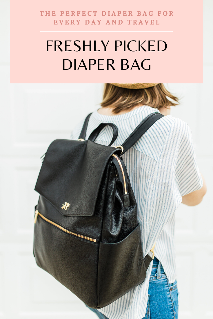 An honest review of the Freshly Picked Diaper Bag as a mom of a toddler and a baby. (The Perfect Option for Stylish, On-the-Go Moms) | glitterinc.com | @glitterinc
