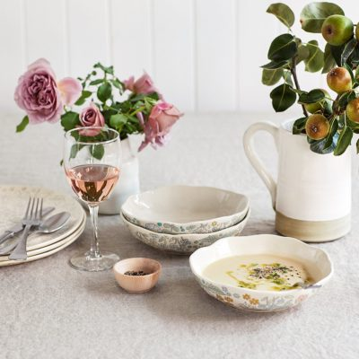 The Prettiest Ceramic Dinnerware (and it's Available on Amazon!)
