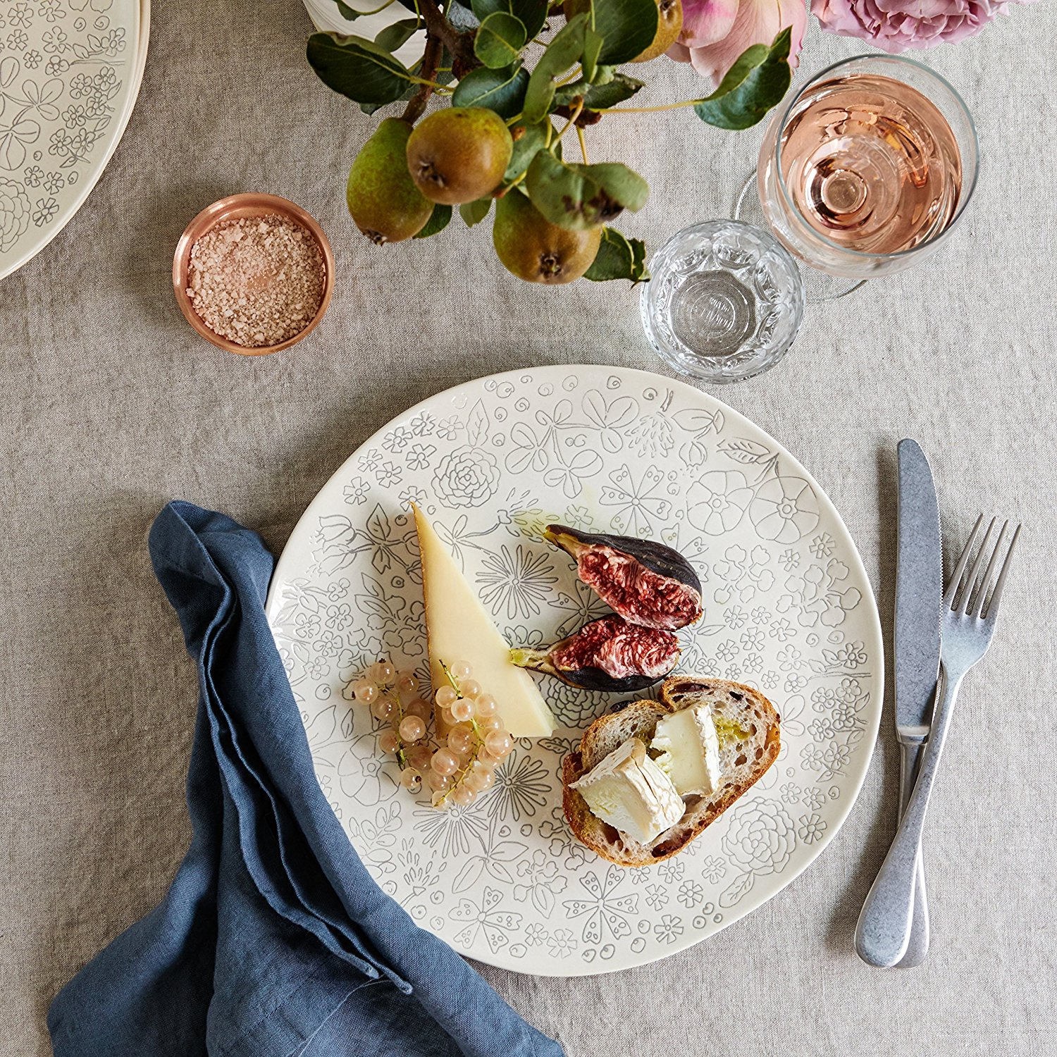 The prettiest, whimsical floral dishes that are just perfect for Spring - and they're exclusive to Amazon! | glitterinc.com | @glitterinc - The Prettiest Ceramic Dinnerware by popular North Carolina style blogger Glitter, Inc.