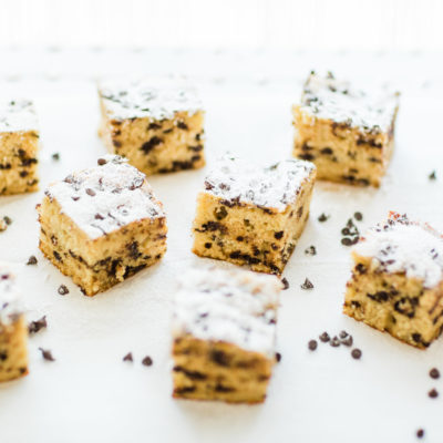 Chocolate Chip Snack Cake by North Carolina foodie blogger Glitter, Inc
