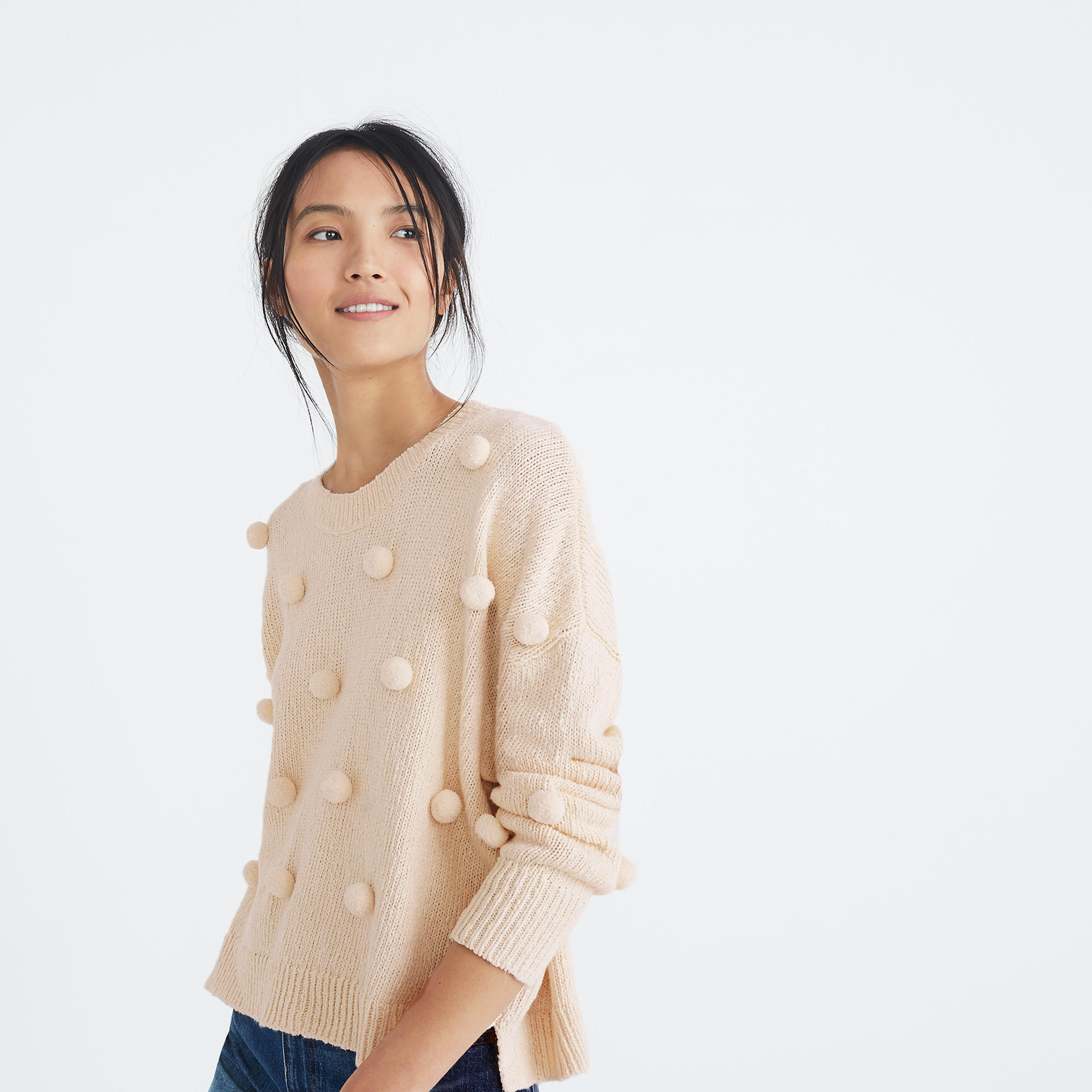 Madewell Pom-Pom Pullover Sweater - Weekly Finds by popular North Carolina style blogger Glitter, Inc.