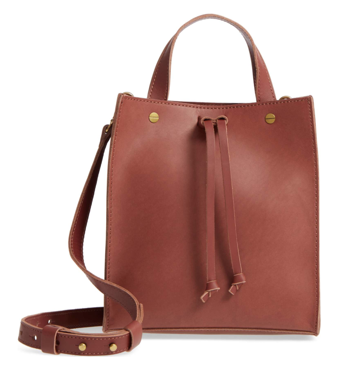 Madewell Small Trick Leather Top Handle Tote - Weekly Finds by popular North Carolina style blogger Glitter, Inc.