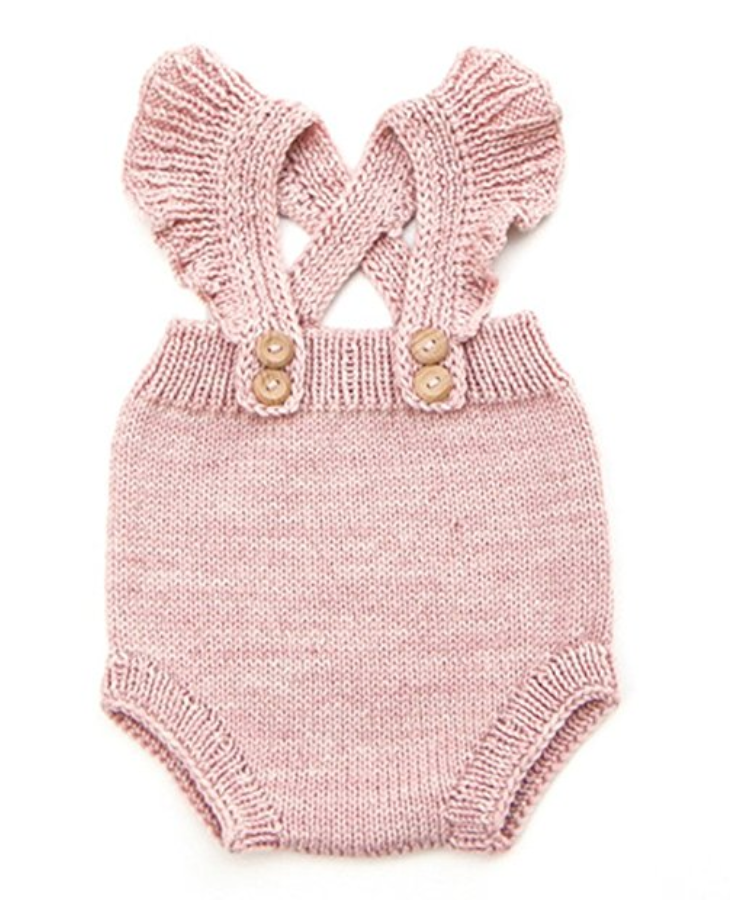 Pinleck Baby Girls Knitted Lace Romper Cross Bandage Ruffles Jumpsuit Bodysuit - Weekly Finds by popular North Carolina style blogger Glitter, Inc.