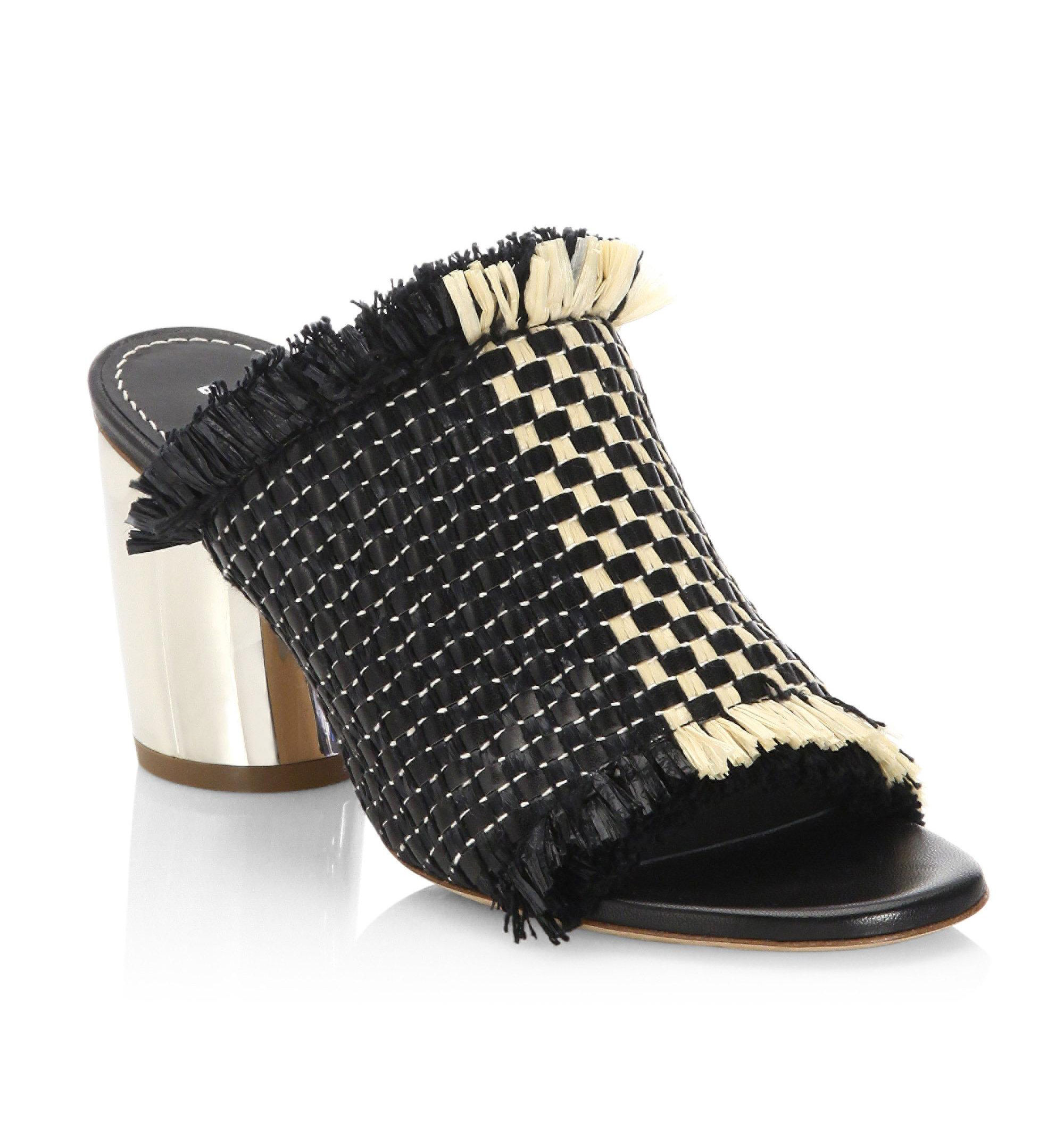 Proenza Schouler Woven Leather and Raffia Mules - Weekly Finds by popular North Carolina style blogger Glitter, Inc.