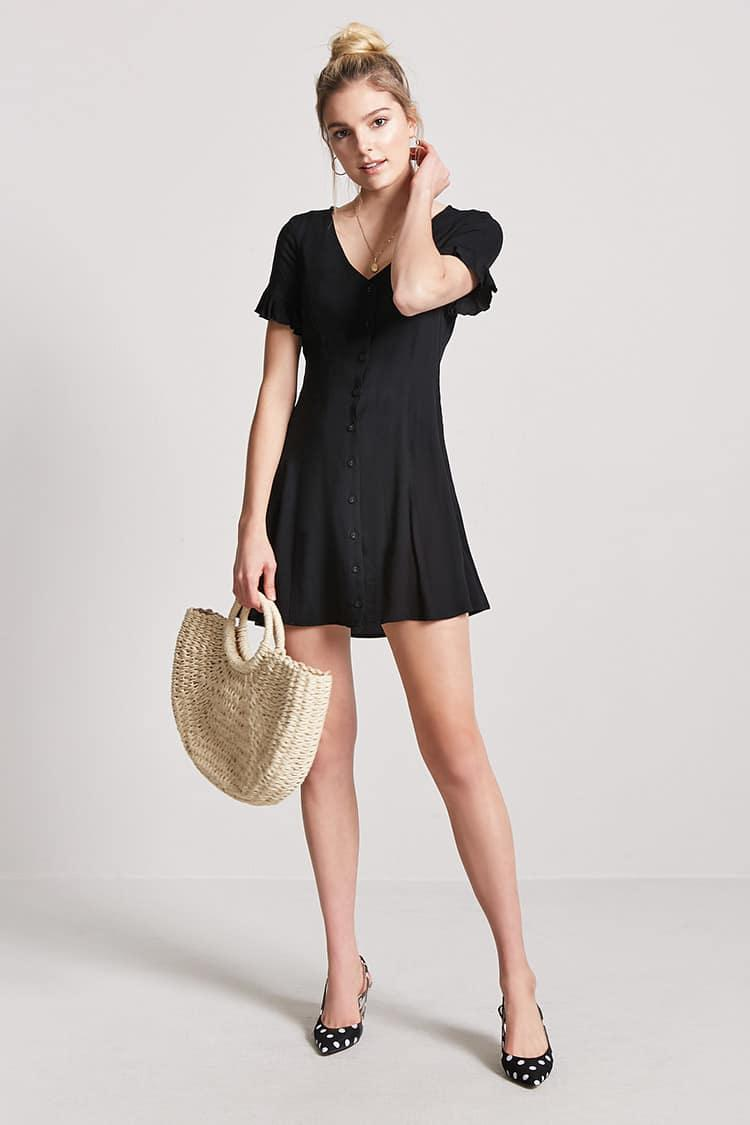 Forever 21 Button-Front Mini Dress - Weekly Finds by popular North Carolina style blogger Glitter, Inc.