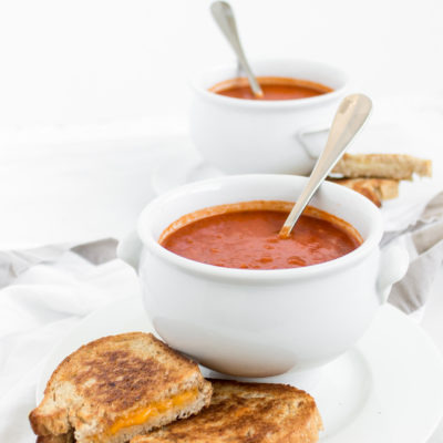 Healthier Protein-Packed Classic Tomato Soup by popular North Carolina foodie blogger Glitter, Inc.