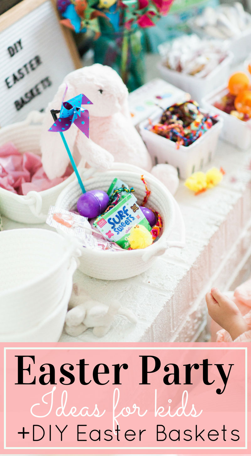 The sweetest activity to do with little ones this Easter: a DIY kids Easter basket station! (Plus, ideas for what to fill your little ones' baskets with.) | glitterinc.com | @glitterinc