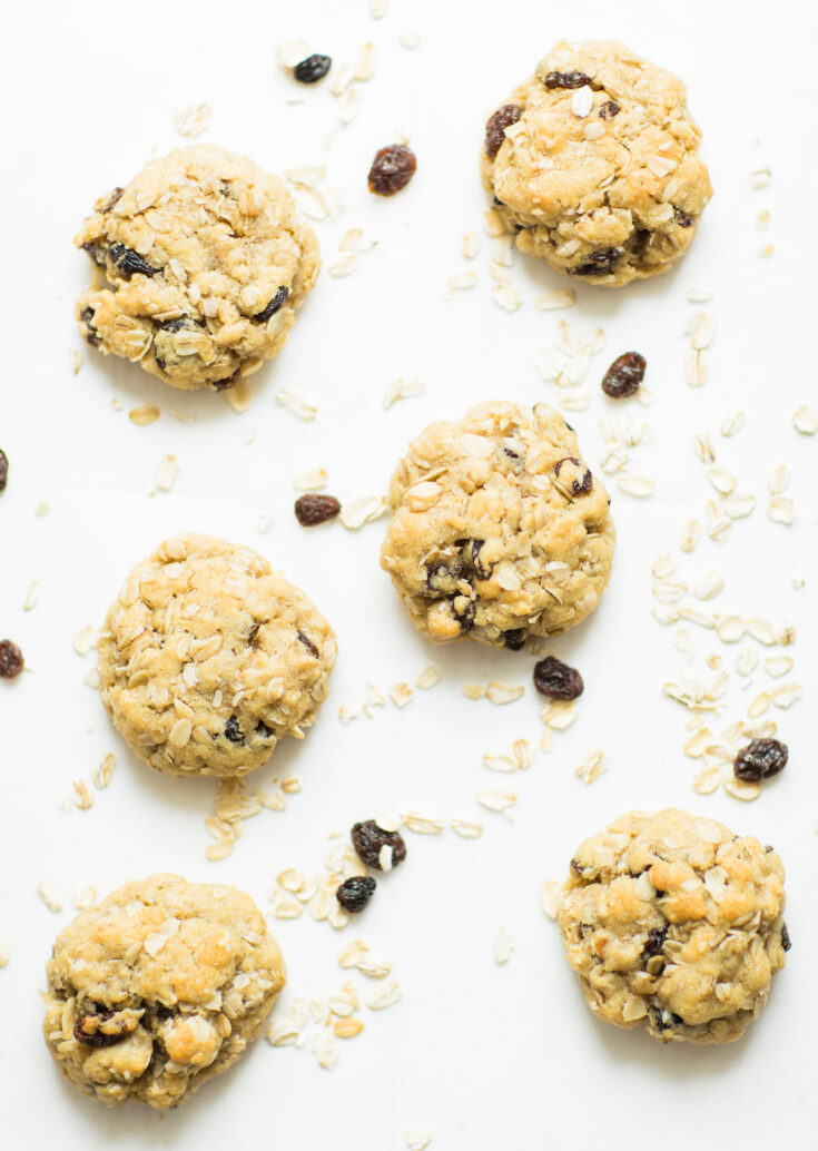 Favorite Oatmeal Raisin Cookies Recipe by popular North Carolina foodie blogger Glitter, Inc.