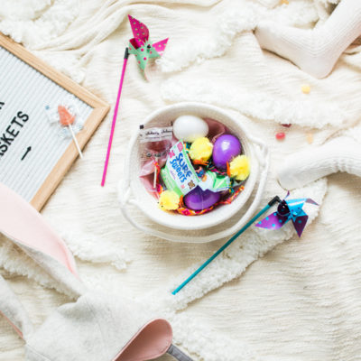 The Cutest DIY Kids Easter Basket Station