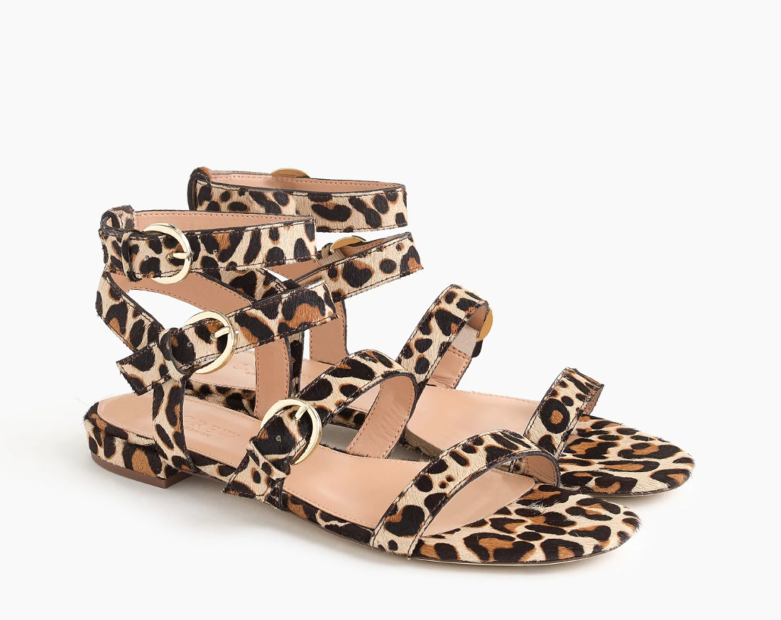 J.Crew Haircalf Multi Buckle Lucy Sandals