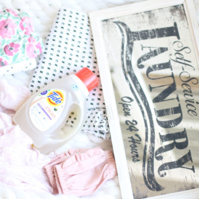 10 Tips for Staying on Top of Family Laundry by popular North Carolina lifestyle blogger Glitter, Inc.