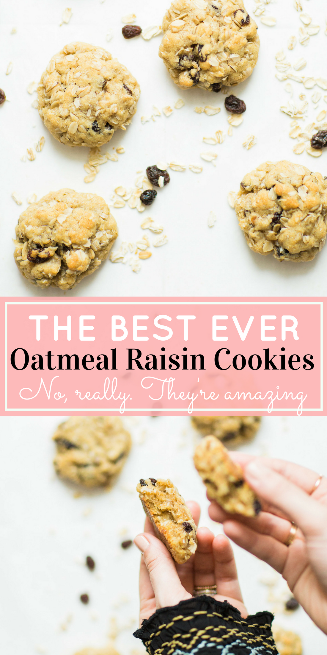 I've found the perfect oatmeal cookies for our family. Crispy on the outside and super soft on the inside, they taste just slightly under-baked; and, bonus - they're dairy-free and can be made gluten-free.Click through for the recipe. | glitterinc.com | @glitterinc