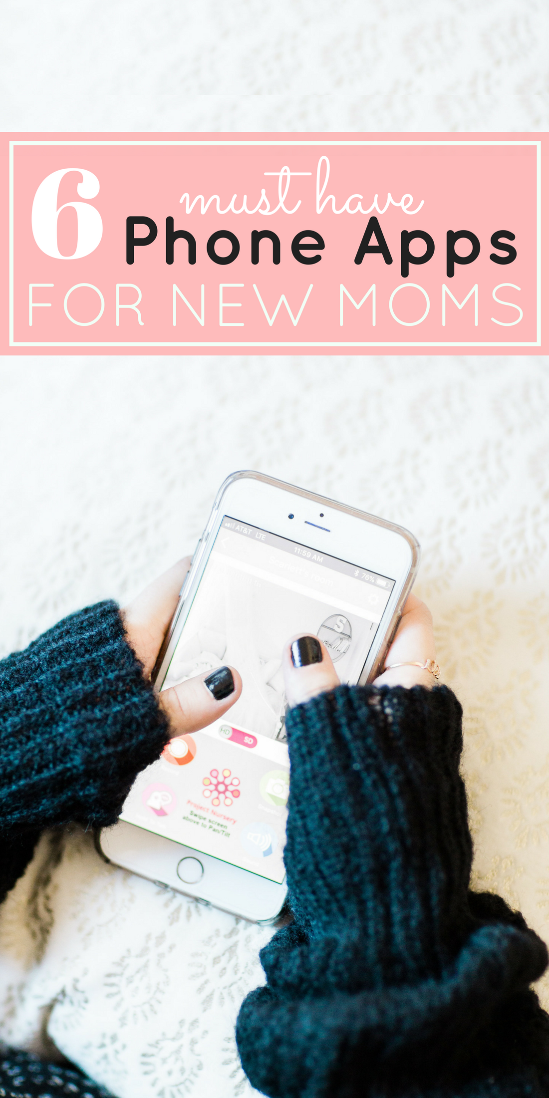 Mom blogger Lexi of Glitter, Inc. shares her favorite phone apps for new moms. These mom-friendly apps are the ones she uses most often to keep up with and keep track of baby, family, and our busy lives! | glitterinc.com | @glitterinc - The Best Phone Apps for New Moms by popular North Carolina mom blogger Glitter, Inc.