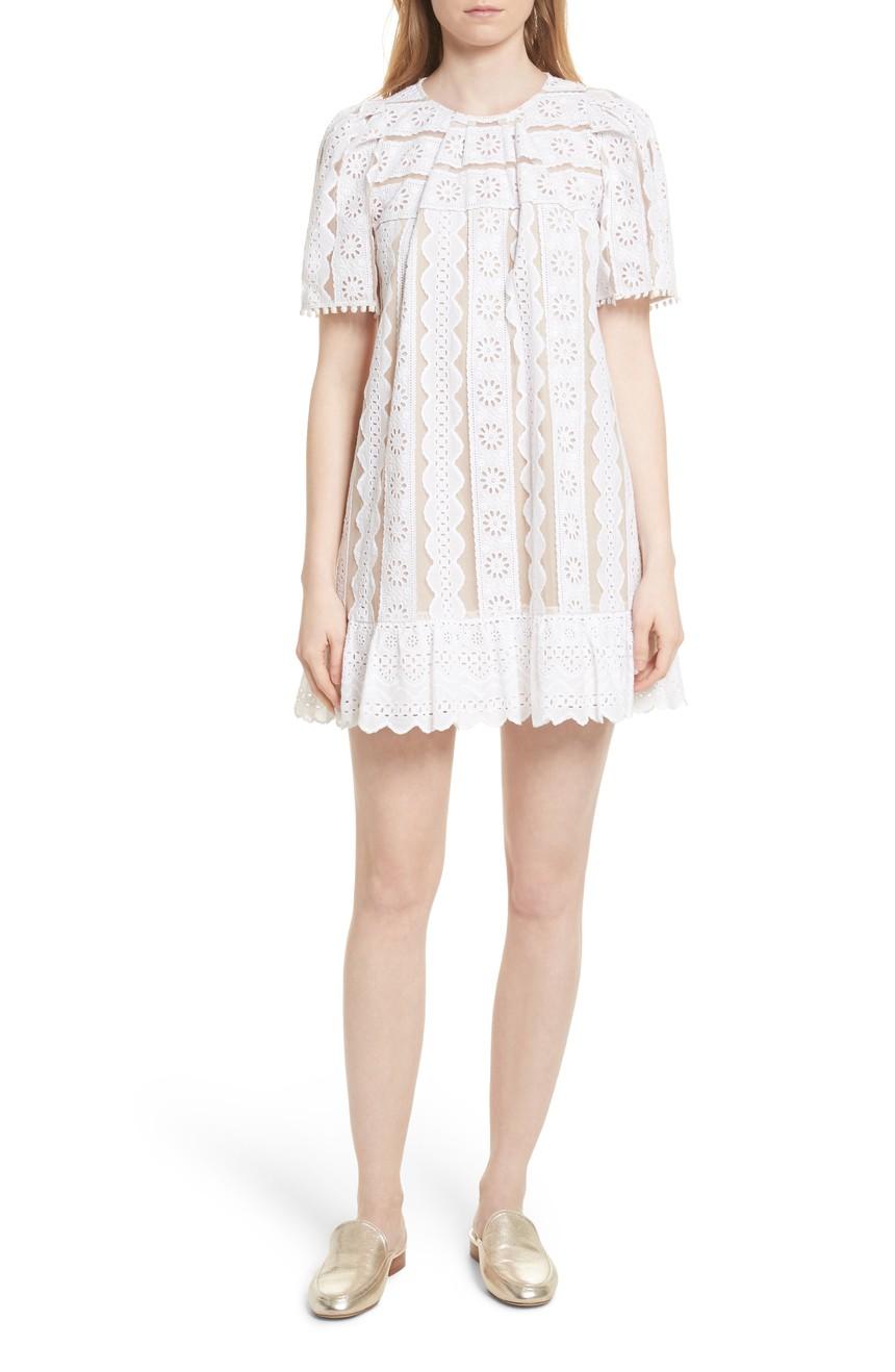 SEA Luna Eyelet Tunic Dress - Weekly Finds by popular North Carolina style blogger Glitter, Inc.