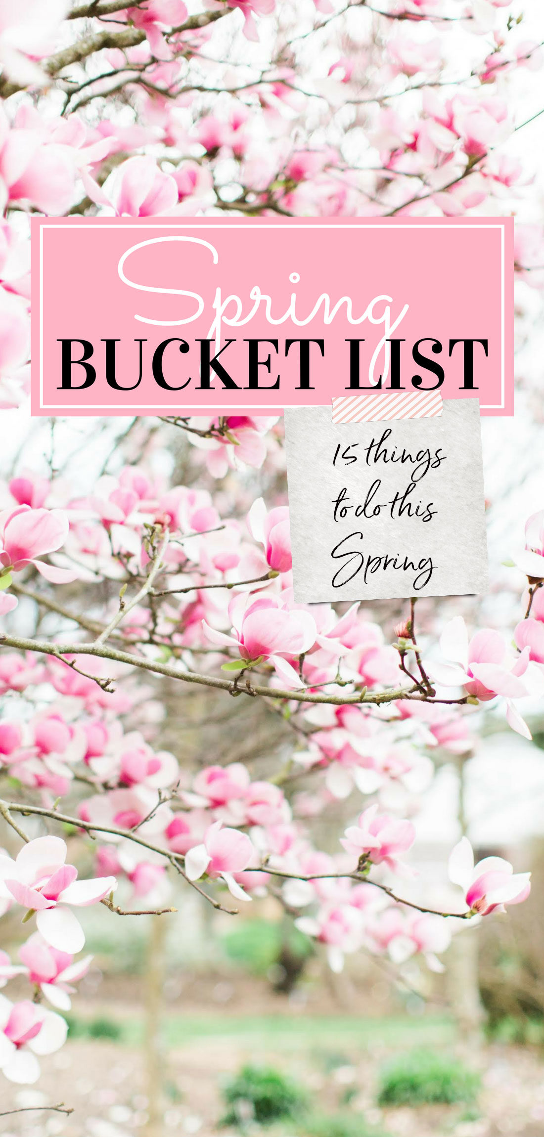 Looking for a little inspiration to kick your Spring bucket list (and to-do list!) into high gear? Lifestyle blogger Lexi of Glitter, Inc. is sharing the 15 things topping her Spring to-do list. | glitterinc.com | @glitterinc