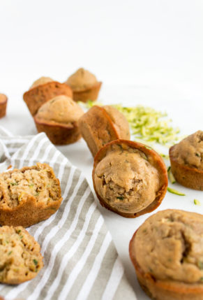 Healthier Zucchini Muffins Recipe by popular North Carolina foodie blog Glitter, Inc.
