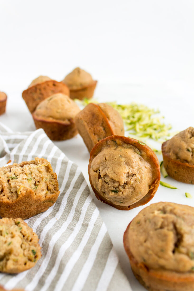 Healthier Zucchini Muffins Recipe by popular North Carolina foodie blog Glitter, Inc.