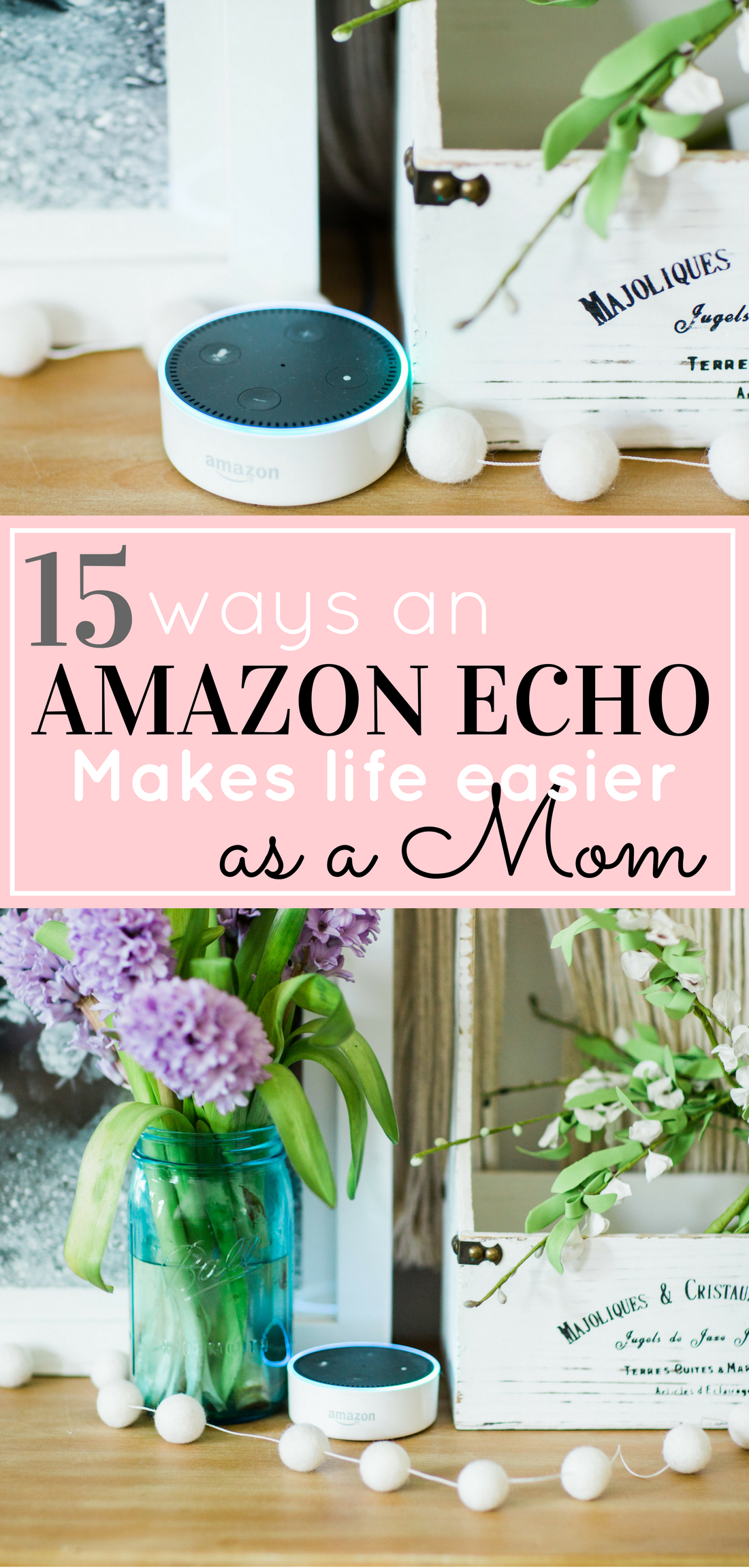 Not sure how to make Alexa work for your family? We're sharing 15 surprising and amazing ways Amazon Echo makes your life easier as a mom, including a brilliant new baby hack and tons of fun for the kids. | glitterinc.com | @glitterinc