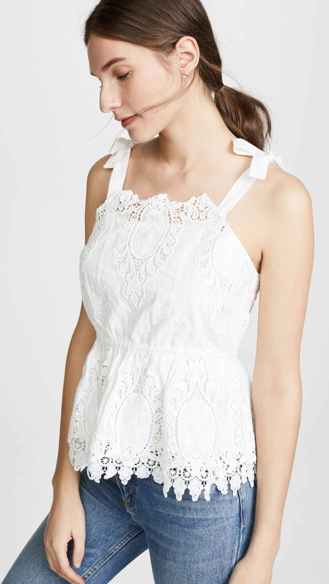 BB Dakota Odessa Eyelet Ruffle Top - Shopbop sale recommendations by popular North Carolina fashion blogger Glitter, Inc.