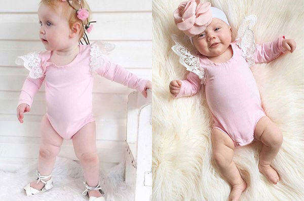 Baby Girls Cute Lace Ruffle Sleeve Bodysuit - Adorable Amazon Outfits for Baby Girls and Toddlers by popular North Carolina style blogger, Glitter, Inc.