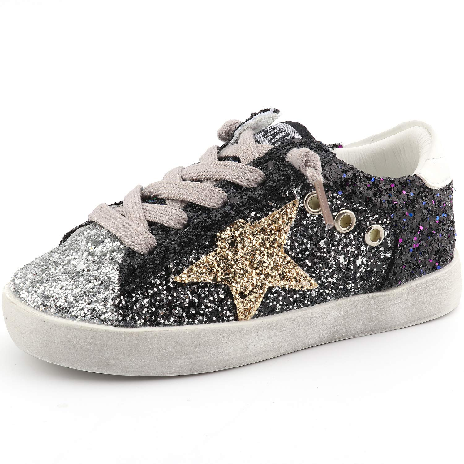 Toddler Baby Glitter Shoe Girl/Boy Sequin Star Flat Sneakers