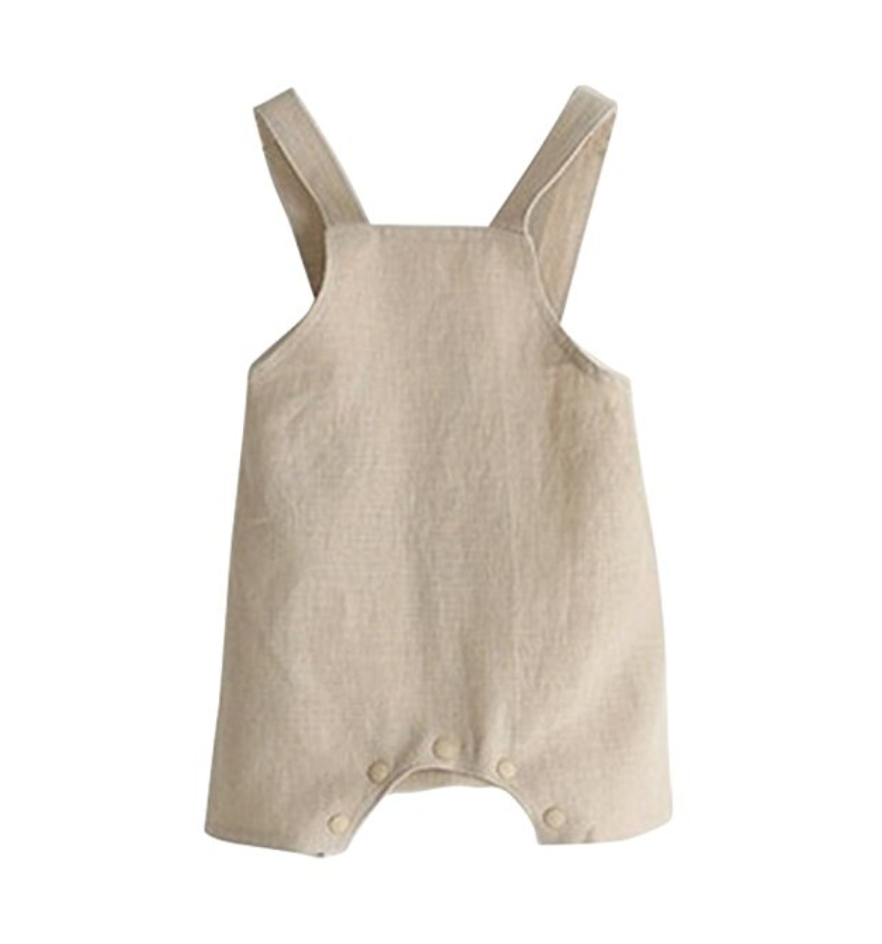 ESHOO Baby Boys Girls Cotton Linen Romper Jumpsuit Pants Overall One Piece