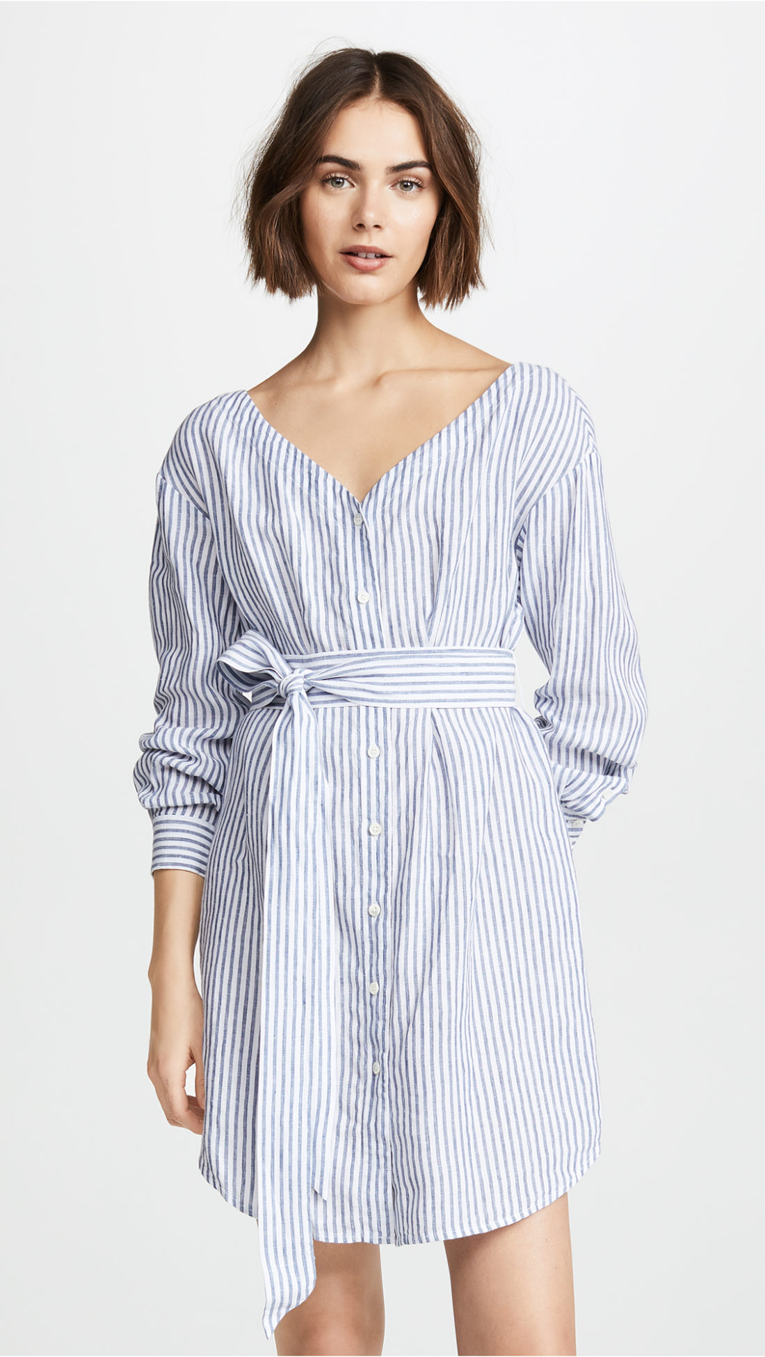 FRAME Belted Poplin Dress  - Shopbop sale recommendations by popular North Carolina fashion blogger Glitter, Inc.