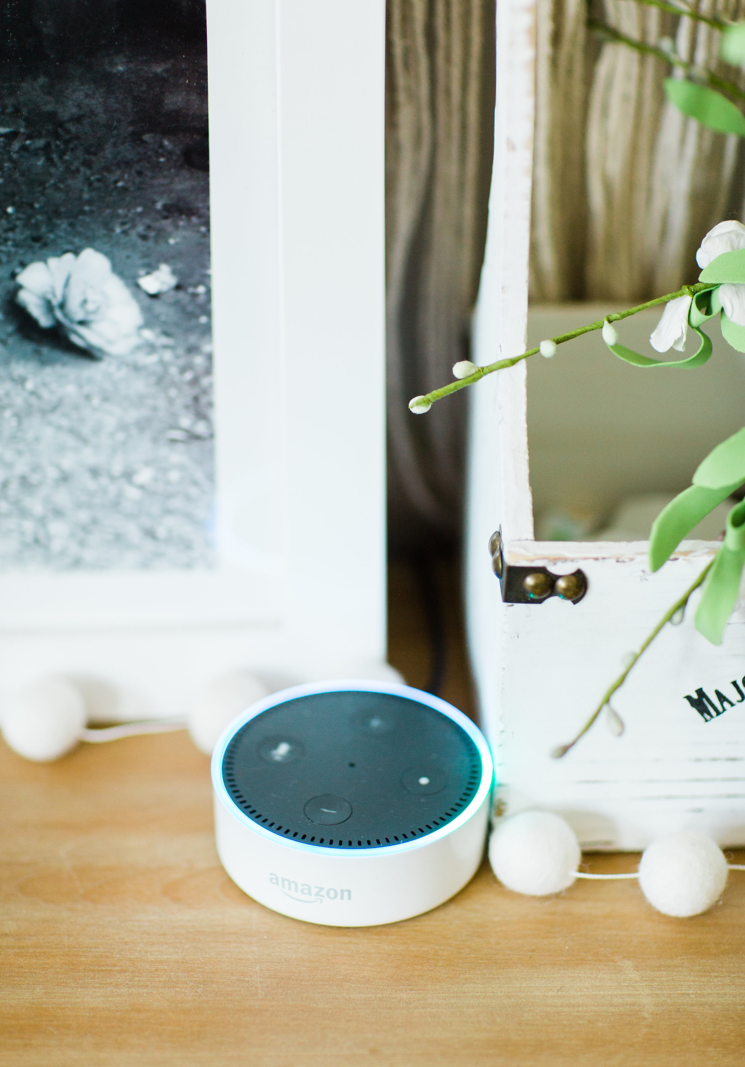 Not sure how to make Alexa work for your family? We're sharing 15 surprising and amazing ways Amazon Echo makes your life easier as a mom, including a brilliant new baby hack and tons of fun for the kids. | glitterinc.com | @glitterinc - Amazon Echo Review featured by popular North Carolina lifestyle blogger, Glitter, Inc.