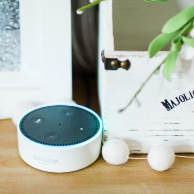 Amazon Echo Review featured by popular North Carolina lifestyle blogger, Glitter, Inc.