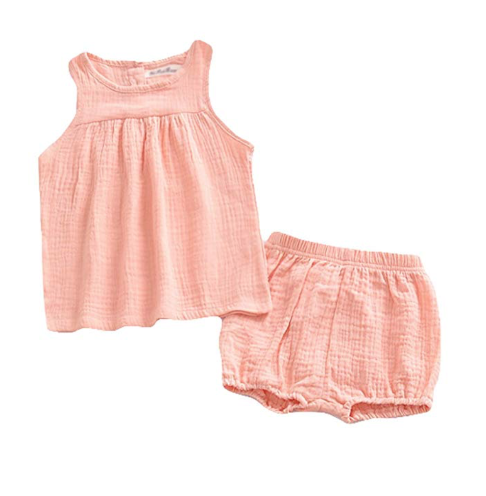 LOOLY Baby Outfits Unisex Girls Boys Cotton Linen Blend Tank Tops and Bloomers on Amazon