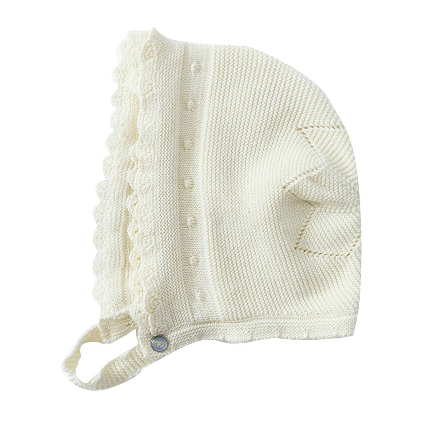Lace Bonnet Knit Baby Hat