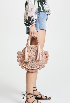 Loeffler Randall Straw Circle Tote - Weekly Finds featured by North Carolina style blogger, Glitter, Inc.