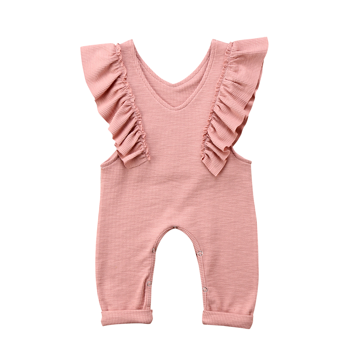 Toddler + Baby Girl Ruffle Loose Jumpsuit Romper Overalls - Adorable Amazon Outfits for Baby Girls and Toddlers by popular North Carolina style blogger, Glitter, Inc.