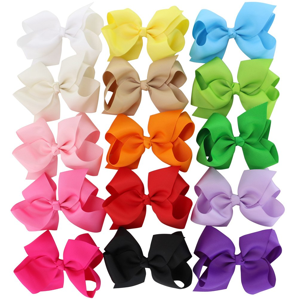 Grosgrain Ribbon Hair Bows Headbands for Baby Girls and Toddlers