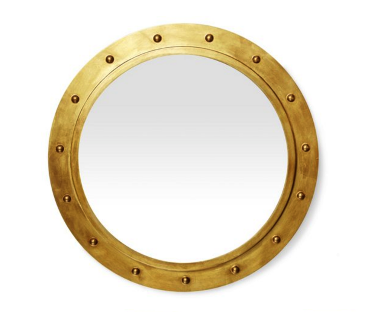 Worlds Away Gold Porthole Mirror