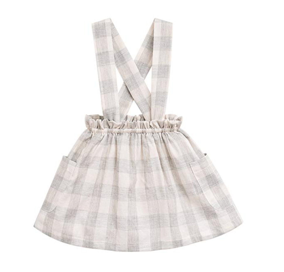 marc janie Little Girls' Fashion Suspender Skirt Baby Girls Jumpsuit Strap Overall Dress
