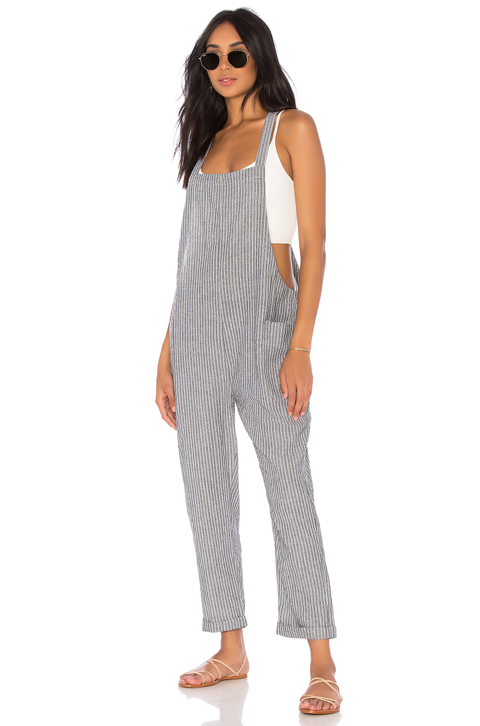 Bobi Seaside Stripe Jumpsuit