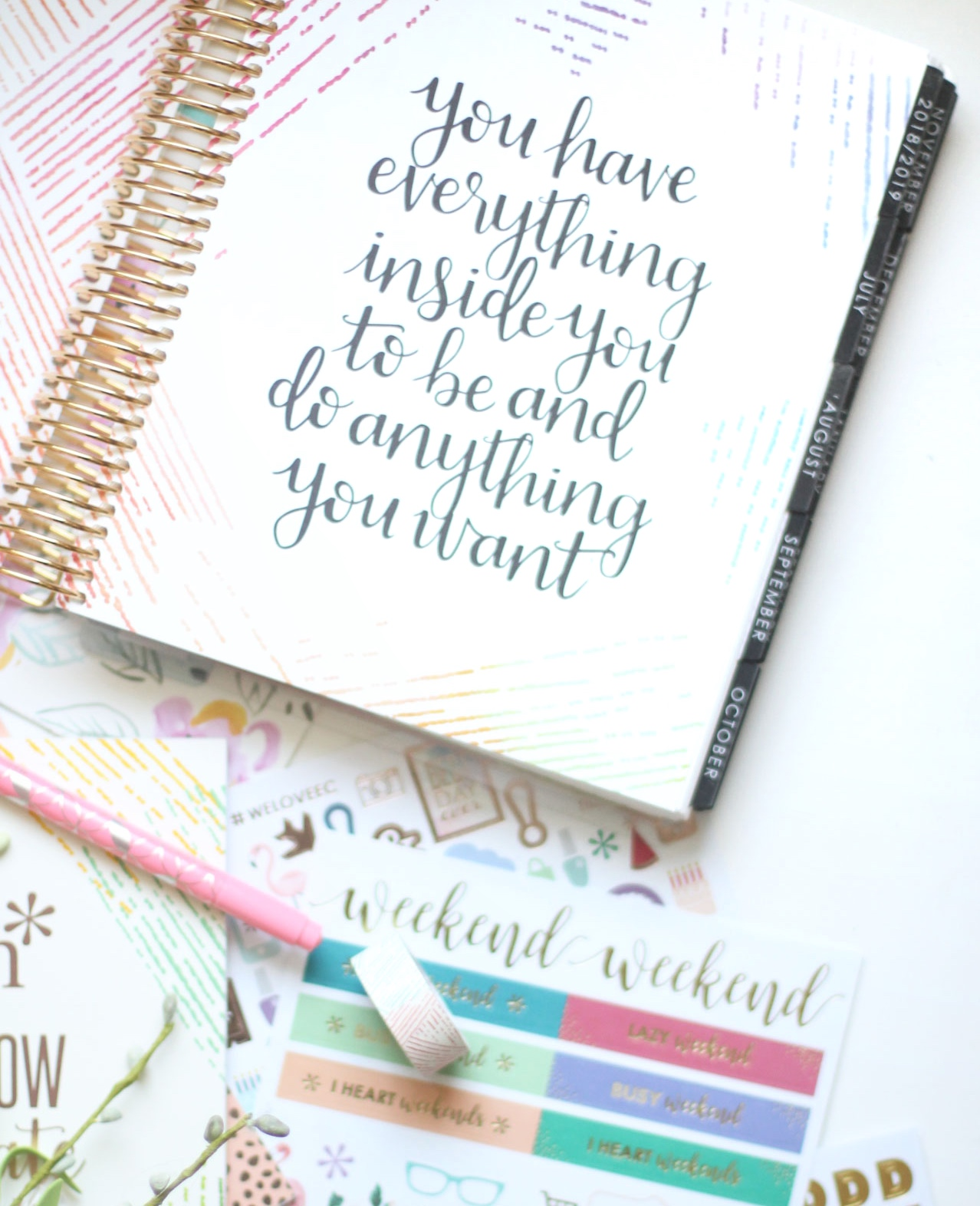 The 2018-2019 Erin Condren LifePlanner featured by popular North Carolina Lifestyle blogger, Glitter, Inc.