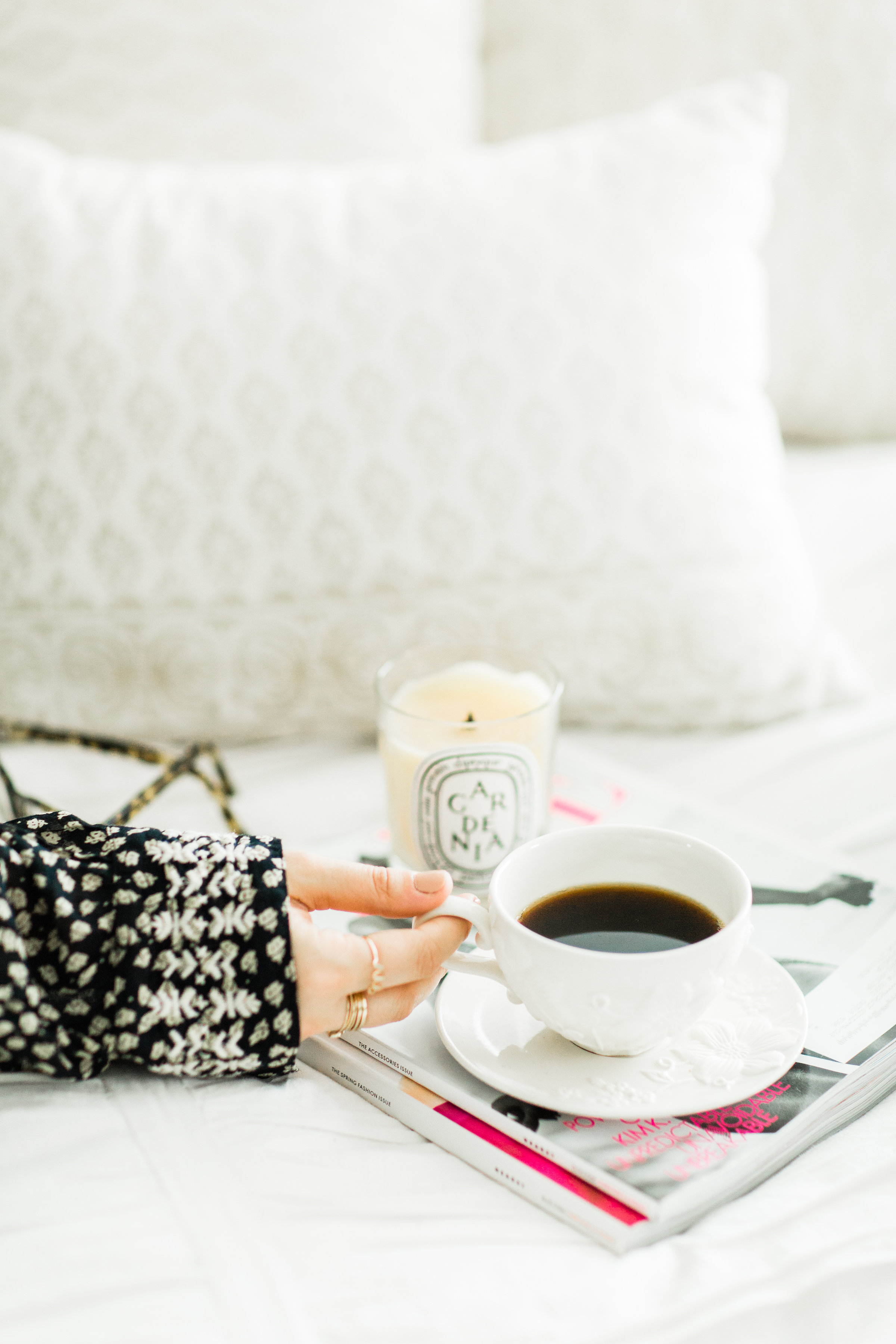 Lifestyle blogger Lexi of Glitter, Inc. shares a few little love notes to the things she loved most this week, coffee in bed, plus fun weekend plans. #coffee #bedroom #flatlay #fashionblogger | glitterinc.com | @glitterinc