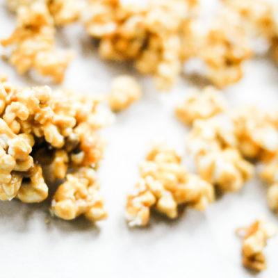 Salted Vanilla Caramel Corn Popcorn
