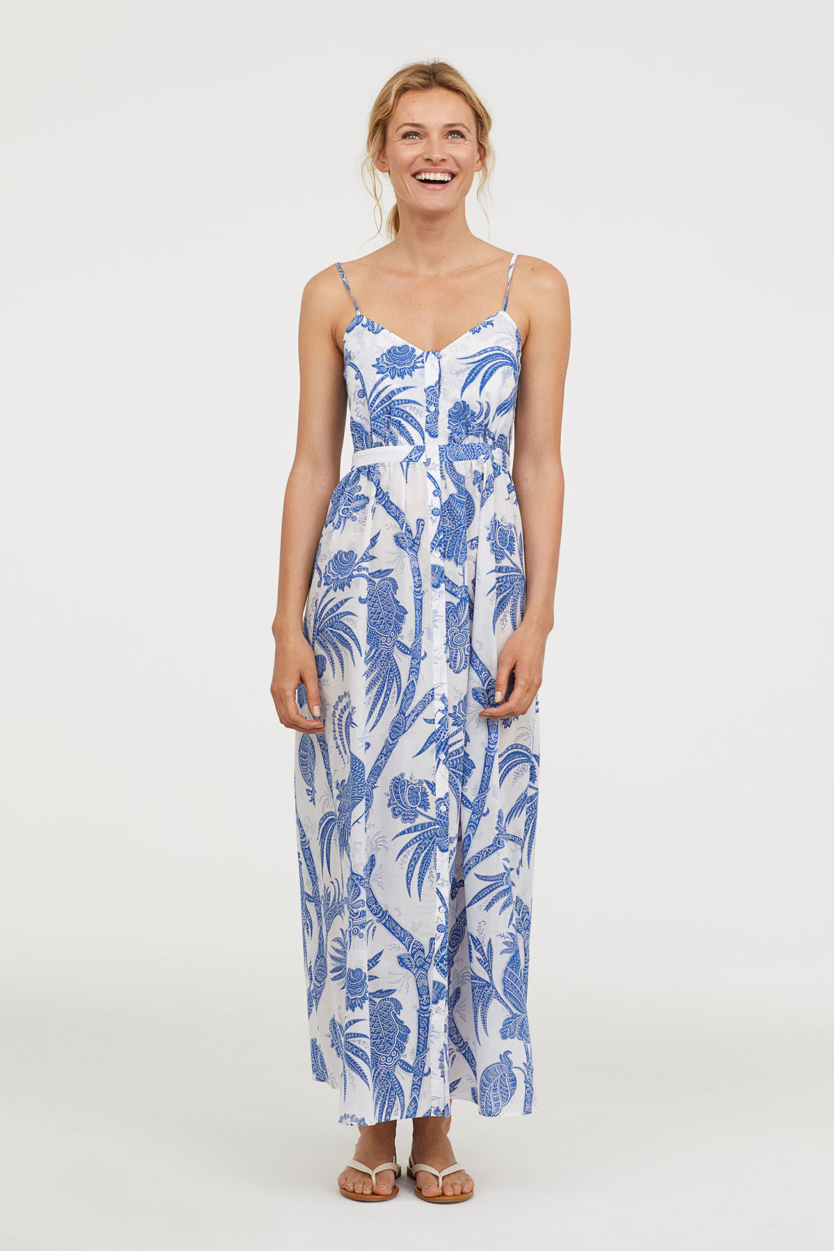 H&M Cotton Maxi Dress